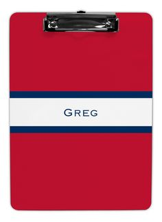 Red and Navy Stripe Clipboards