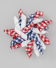 Take a look at this Fourth of July Gingham Clip on zulily today!