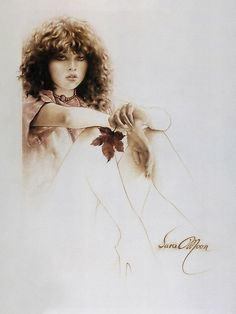 """un poster dans la chambre """"Girl with Maple Leaf"""" Painting in Oils by Sara Moon Sarah Moon, Anna Dittmann, Creation Photo, Art Manga, Moon Pictures, Women Figure, Decoupage, Painted Leaves, Moon Art"""