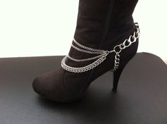 Upgrade any Bracelet into Boot Jewelry (this apparently sold on Etsy). Use existing jewelry to add flair to boots.