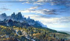 Seeing Ithilien for the First Time - by Ted Nasmith