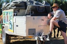 """If you want a trailer that looks as tough as the tracks you drive it on, the Infanta will have you drooling like a boerboel. Sharp lines, robust door handles (with lock and key), strong hinges and extensive use of aluminium checker plate give this trailer a diehard demeanour that insists: """"Where you go, I go."""" - Grant Spolander, 4x4 magazine Door Handle With Lock, Places Of Interest, Outdoor Camping, Caravan, 4x4, Door Handles, Plate, Strong, Magazine"""