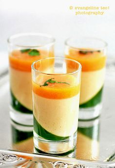 Apricot Panna Cotta With Mint Gelée & Apricot Sauce by bossacafez, via Flickr