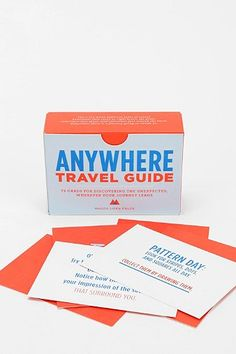 Anywhere - A Travel Guide Card Set | Seattle's Travel Shop