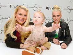 WHO WANTS A HUG? Pregnant again and promoting her clothing line, Jessica Simpson brought adorable daughter Maxwell Drew and sister Ashlee to Belk Southpark mall in Charlotte, N.C., Saturday.