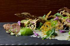 Australian Beef Short Ribs with Broccoli Purée, Toasted Nori Yogurt, Kaeshi Sauce, and Wasabi Vinaigrette by Chef Seth Siegel...