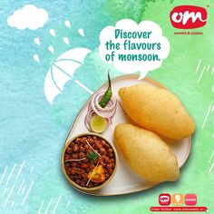 Monsoon is all about the crunch and munch of exotic food. Discover your flavours of monsoon with om sweets ☔️ Order online or drop in to relish! . . . #omsweets #omsweetsandsnacks #tastyfood #monsoondiaries #rainyday #monsoonsnacks Om Sweets, Exotic Food, Monsoon, Yummy Food, Drop, Snacks, Fruit, Appetizers, Delicious Food