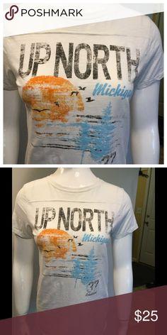"Up North T-Shirt 😀 Short sleeve Up North T-Shirt. 100% cotton. Bust 16"" length 25"" Tops Tees - Short Sleeve"