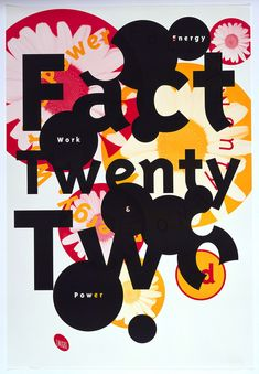 """Promotional poster for """"Fact TwentyTwo"""", album from Emigre Music. Intersecting circles in pink, black and yellow in various diameters throughout poster with either simple text or photo of daisy superimposed. Emigre Magazine, Neville Brody, Japanese Graphic Design, Art Competitions, Graphic Design Inspiration, Layout Inspiration, Branding, Cover Design, Design Design"""