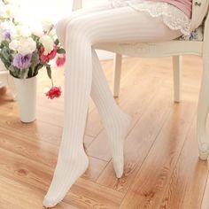 [leggycozy] Japanese Preppy Lovely Velvet Ribbed Pantyhose Stockings Colorful Fashion, New Fashion, Winter Fashion, Winter Tights, Style Japonais, Quoi Porter, Silk Stockings, White Velvet, Cheap Sweaters