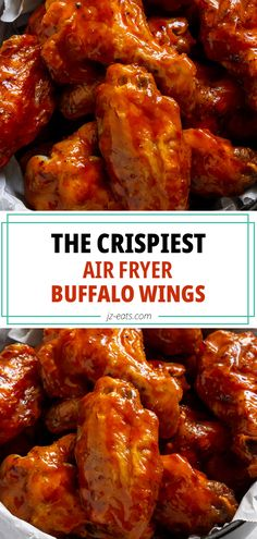 CRISPY air fryer buffalo wings, plus an easy hot honey buffalo sauce recipe with only three ingredients! These are the crispiest air fryer chicken wings you'll ever make, plus it's the easiest recipe for wings in the air fryer, and my favorite recipe for my Ninja Foodi Grill. #airfryerrecipes #airfryerwings #chickenwings #buffalowings #hothoneybuffalosauce Air Fryer Recipes Chicken Wings, Best Chicken Wing Recipe, Chicken Wing Sauces, Grilled Chicken Recipes, Baked Chicken Recipes, Grilled Hot Wings Recipe, Air Fryer Dinner Recipes, Air Fry Recipes, Air Fryer Recipes Easy