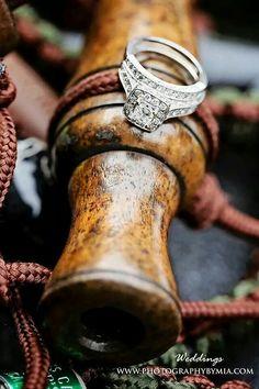 Hunting style wedding ring shots! #duckcall # wedding