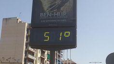 Termómetro situado junto a Plaza de Armas a las 16:30 horas