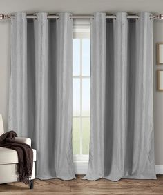 Carrie Sheer Grommet Window Panels (Set of Silver Curtains, Window Panels, Be Perfect, Carry On, Home Furniture, Carrie, Satin, Windows, Home Decor