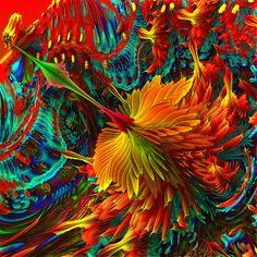 Fractal Landscape, Detail (Firebird)