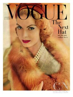 Vintage Vogue covers are such fabulous inspiration. This cover is from August 1957 The Best Vintage Vogue Covers Capas Vintage Da Vogue, Vogue Vintage, Vintage Vogue Covers, Vintage Fur, Vogue Magazine Covers, Fashion Magazine Cover, Fashion Cover, Vogue Fashion, 1950s Fashion