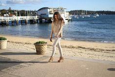 Get this look (shirt, jeans, bootie) http://kalei.do/X2qSfbQCVZv506Eq