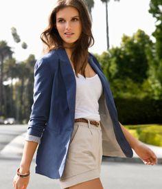 Stylish blazer and khaki outfit