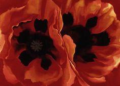 Georgia O'Keeffe  American Painter  1887-1986      Oriental poppies, 1928