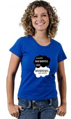 Camiseta A Culpa é das estrelas - Alguns Infinitos são maiores que outros por apenas R$38.90