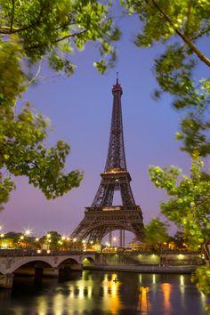 Eiffel Tower in sunrise at Seine, Paris - Eiffel Tower in sunrise at Seine, Paris
