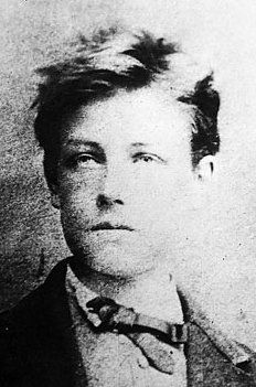 "Jean Nicolas Arthur Rimbaud    A French poet who produced most of his best known works in his late teens. Victor Hugo called him 'an infant Shakespeare' at the time. He was a libertine among others and had ""eyes of pale blue irradiated with dark blue—the loveliest eyes I've seen"" as said by a childhood friend."