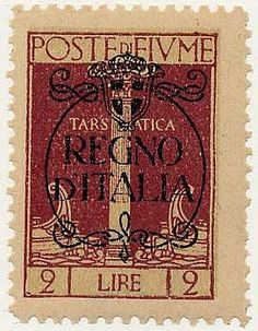 Regno d'Italia 2 l. bruno carminio (211a). Raro. Sor.