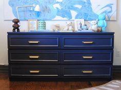 Blue File Cabinet DIY