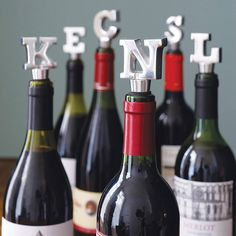 alphabet wine bottle stopper by the letteroom | notonthehighstreet.com