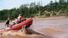 Tidal bore rafting recommended 'adventure' in Men's Journal.