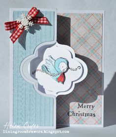 The Dining Room Drawers: Purple Onion Designs - New Stacey Yacula Stamps Sizzix Flip-its Christmas Card