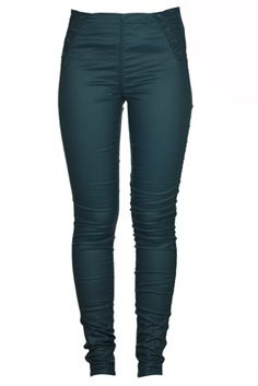 Pantaloni Pull and Bear Gatles Dark Turquoise | Kurtmann.ro