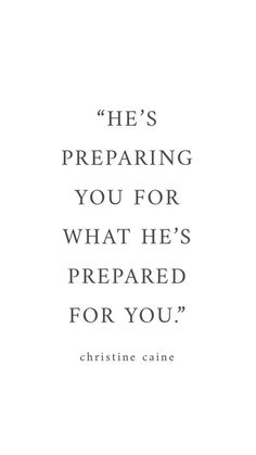 He's preparing you for He's got prepared for you  | #smallbusinessowner #christian #christianbusiness #christianquotes #inspirationalquotes #motivation #jesus