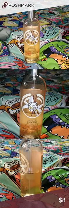 The body shop Vanilla body mist!!! It has been used and it is half gone..I purchase a while ago off this app but I don't remember when so it's a resale the body shop Other