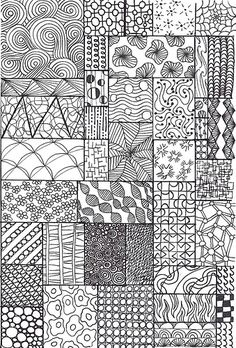 zentangle sampler - love zentangles!