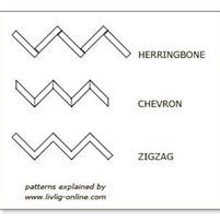 chevron, herringbone and zigzag patterns explained by Zig Zag Pattern, Herringbone Pattern, Chevron, Wood Floor Pattern, How To Find Out, Design Inspiration, Knitting, Patterns, Bathroom