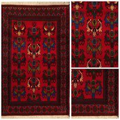 We ❤ the Tribal Pattern of Hand Knotted Rugs made by Baluch Nomads... Carpetsinbazaar.com #handknoted #baluchcarpet #baluchrug #tribalrug #rugpattern #rugdesign #interiors #interiordesign #redorientalrug #orientalrug #orientalcarpet #homeinterior