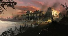 View an image titled 'Multiplayer Town Concept Art' in our Assassin's Creed IV: Black Flag art gallery featuring official character designs, concept art, and promo pictures. Landscape Concept, Fantasy Landscape, Fantasy World, Dark Fantasy, Assassin's Creed Black, Celtic, Assassins Creed 4, Nature Photography, Travel Photography