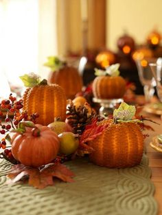autumn pumpkin & pinecone centerpiece {Valerie Parr Hill, QVC}
