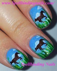 Spellbinding Nails: Mash-37 & Mash-42 - 'A Scenic Horseback Riding Adventure'