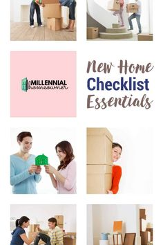 Wondering what essentials you need for your first house? Get this free first home checklist and get collecting what you need for furnishing a new house. Our new home checklist is a free printable just for you! Download it now #moving #house #firsthome #checklist #free #printable