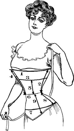 How to draft your own corset pattern. Helpful for beginners! Includes directions from start to finish, measurements included and color coded directions.
