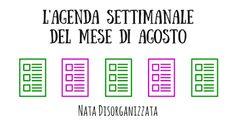 agenda settimanale agosto 2015