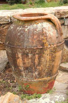 19C Italian Olive Oil Jar