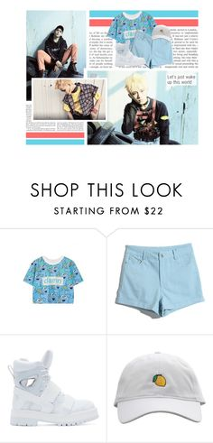 """""""Hands up if you feelin' the vibe now"""" by yb77 ❤ liked on Polyvore featuring WithChic, Hood by Air, firetruck, taeil, winwin, Jaehyun and NCT127"""
