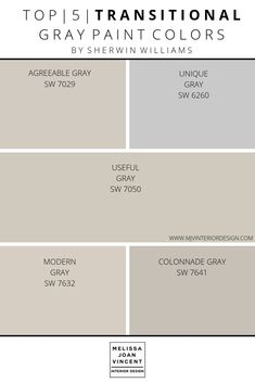 Paint Palette Selection — Melissa Joan Vincent – Home Renovation Greige Paint Colors, Neutral Paint Colors, Bedroom Paint Colors, Exterior Paint Colors, Grey Paint, Exterior Design, Indoor Paint Colors, Paint Colors For Home, Farm House Colors