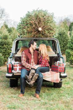 Andy & Kate's Christmas Tree Farm Engagement — Hudson Nichols | Fine Art Photography