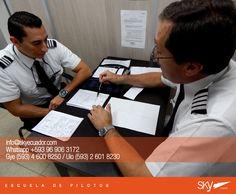 Muy buen #inicio de #semana para todos! #lunes   !Atención últimos cupos!   Fórmate como Piloto Comercial en #Ecuador !  Siguiente curso:  #Quito - NOVIEMBRE  #Guayaquil - OCTUBRE   Analiza nuestra experiencia, permisos, costos, nivel académico, flota, simuladores, facilidades, bases operativas, etc.  Para mayor información escríbenos a: info@skyecuador.com o mensajes WhatsApp 096 906 3172  Teléfonos:  02 601-8230 #Quito  04 600 8250 #Guayaquil