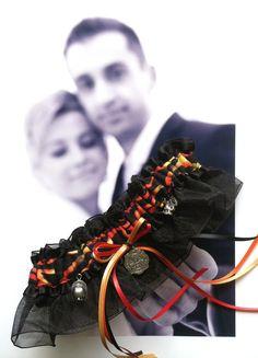 Fireman Wedding Garter  My Hero You Light My Fire by LeonoraB