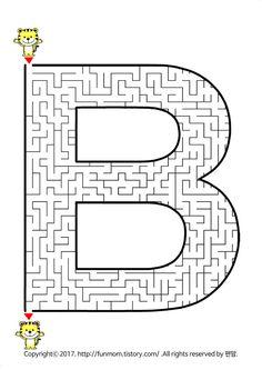 어린이 미로 도안 프린트:: Maze Worksheet, Worksheets, Mazes For Kids, Coloring, Activities, Games, Labyrinths, Therapy, Gaming